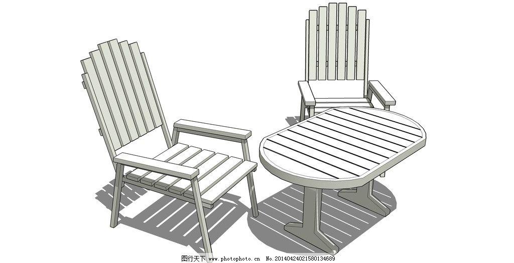skp 三维 3d 模型 sketchup草图大师文件 桌椅模型 其他模型 3d设计