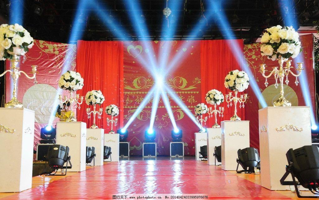 婚礼图片 场布 红色场布