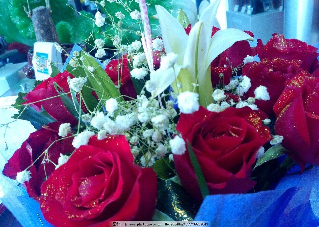 玫瑰花 鲜花 花瓣 绿叶 漂亮的玫瑰花 美丽花朵 花草 红玫瑰