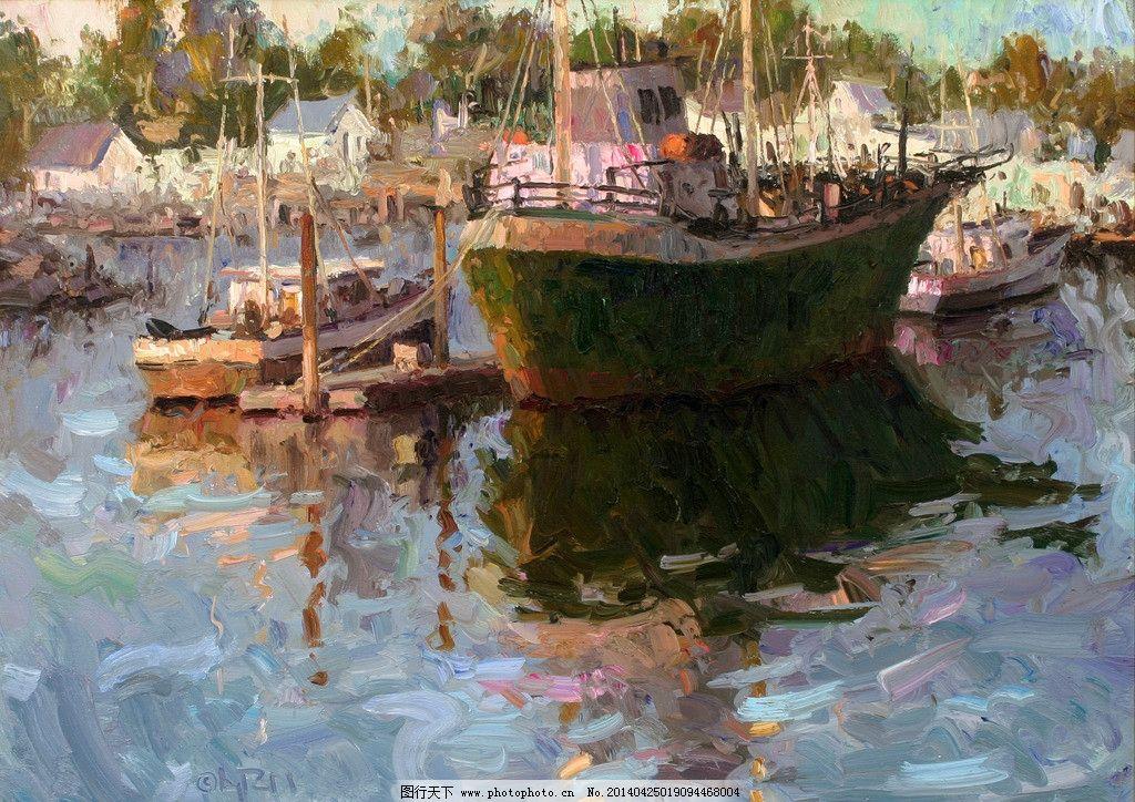 船舶 油画 风景油画 写生 外国油画 绘画 绘画书法 文化艺术 设计 300
