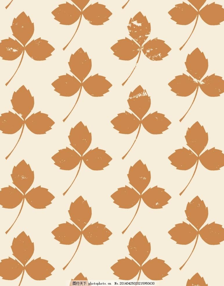树叶 树枝 枝叶 叶子 花纹 图案 布纹 印花 花布 艺术布 纹理 印染