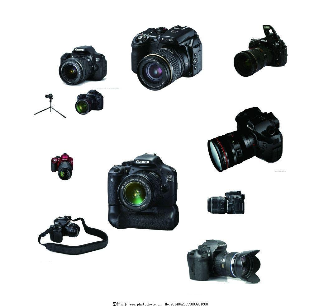 十款 摄影 摄影器材 全画幅 各色单反 单反器材 psd分层素材 源文件