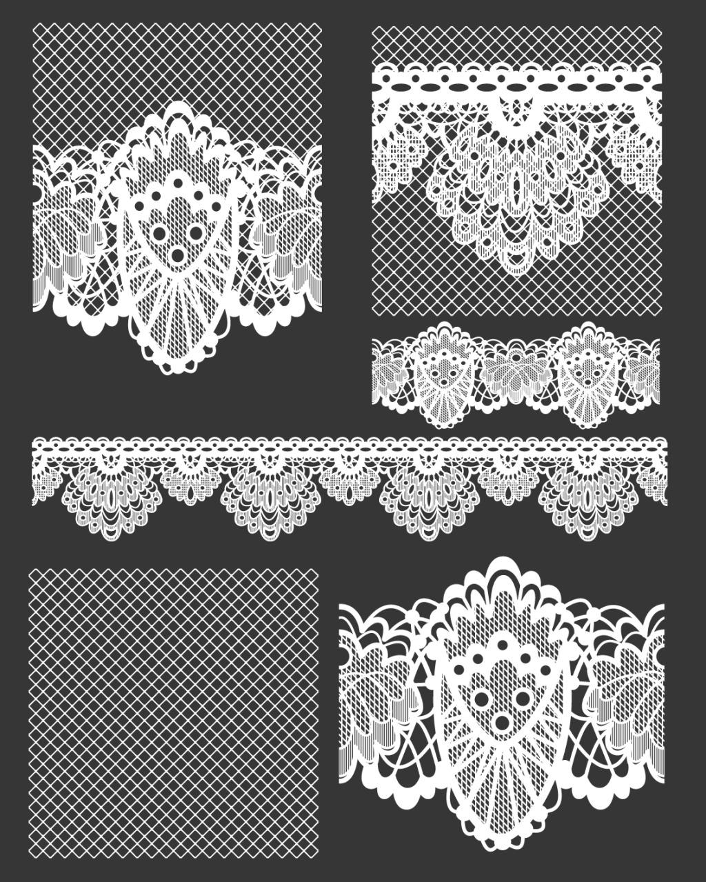 欧式 欧式 复古 花纹 蕾丝边设计