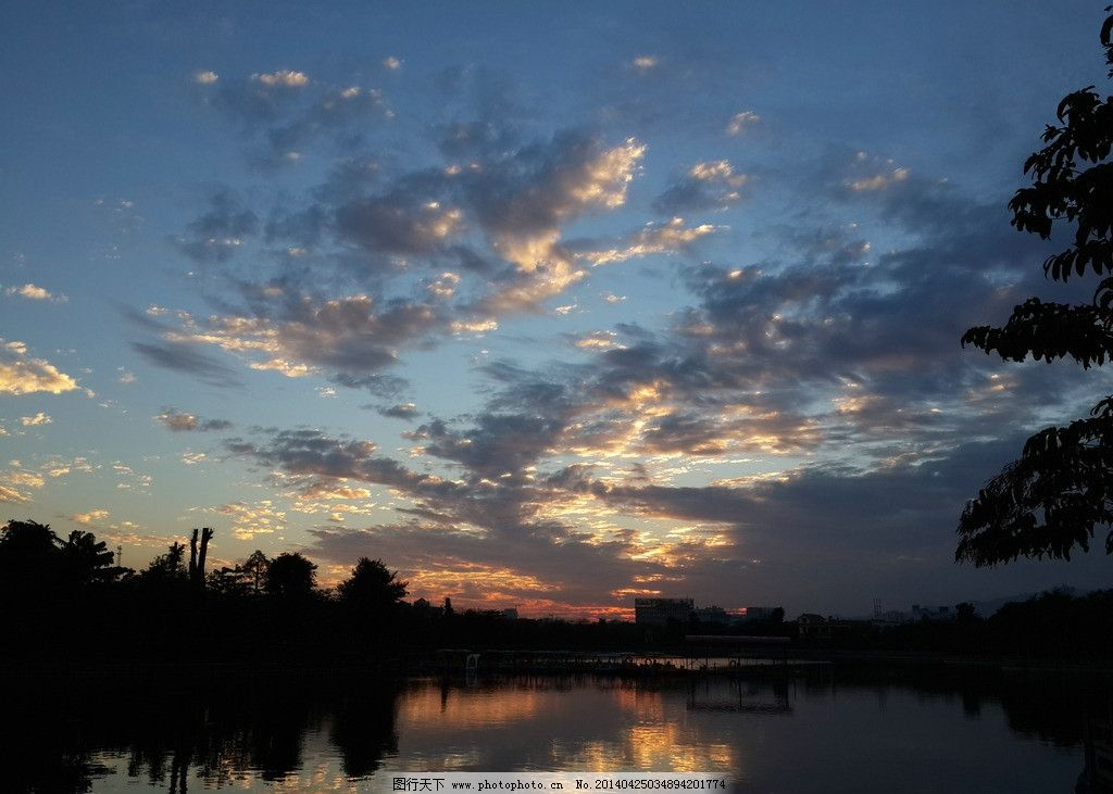 德宏州瑞丽市 傍晚 残阳 黄昏 自然风景 自然景观 摄影