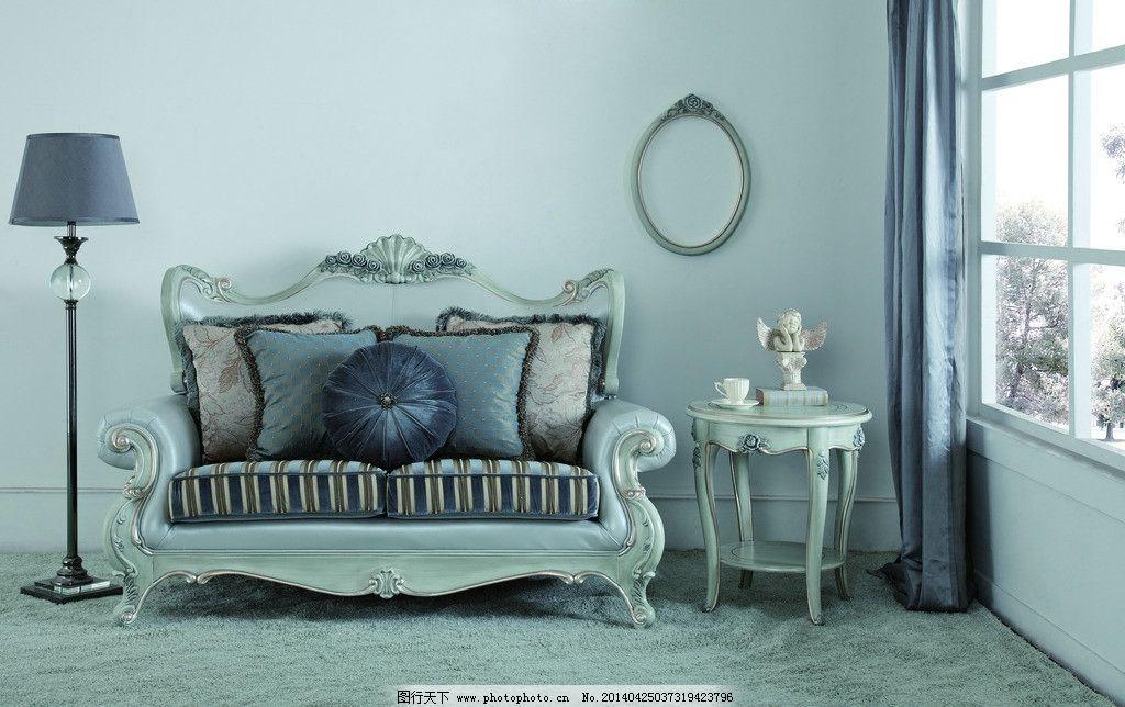 法式家具 欧式风格 豪华家具 古典家具 装饰品 欧式软体沙发 落地灯