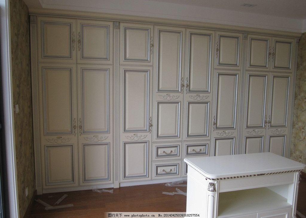 欧式白色衣柜图片