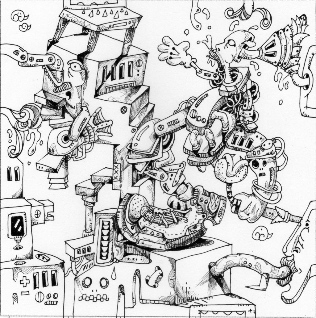 机械手绘效果图
