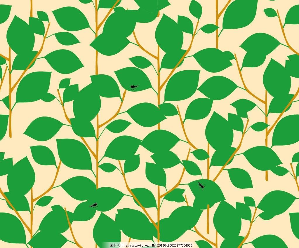 绿叶 布纹 叶子 植物 绿色植物 装饰画 花纹 图案 印花 花布 艺术布