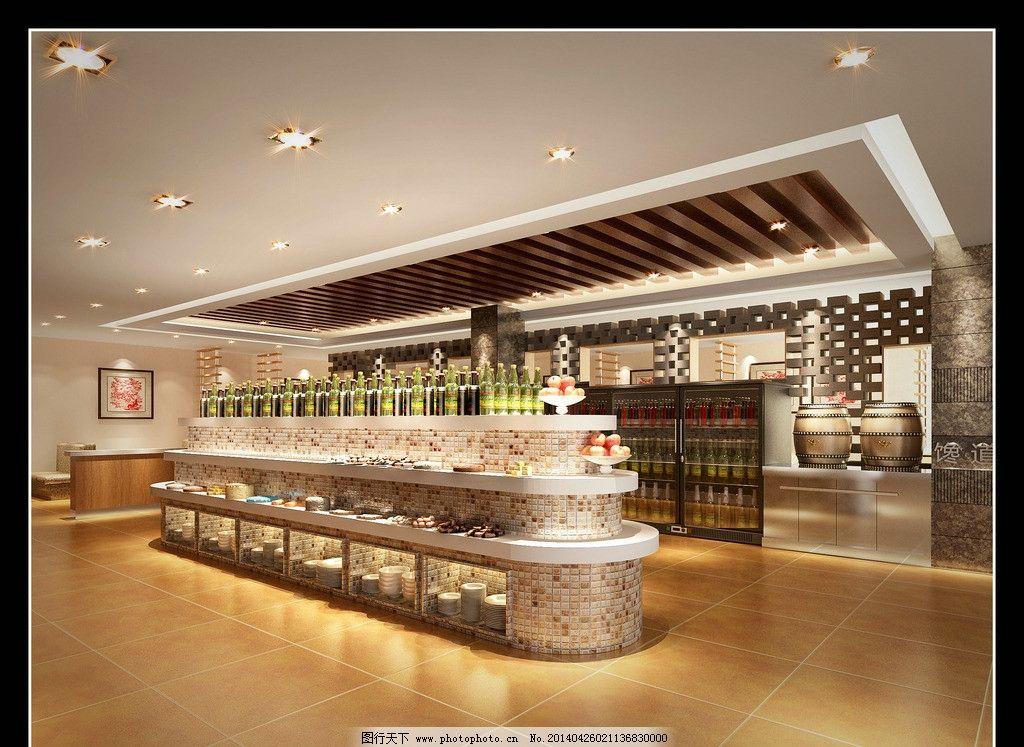 自助餐厅 室内效果图 自助餐 餐厅 室内        餐饮 3d作品 3d设计