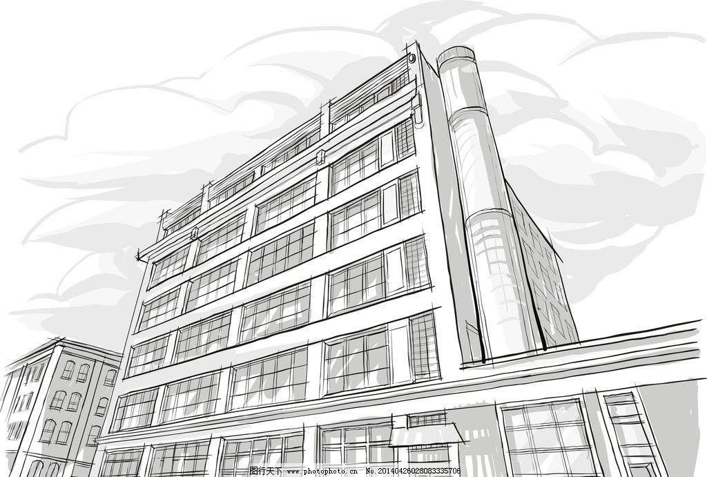 手绘建筑 素描 建筑 建筑剪影图片