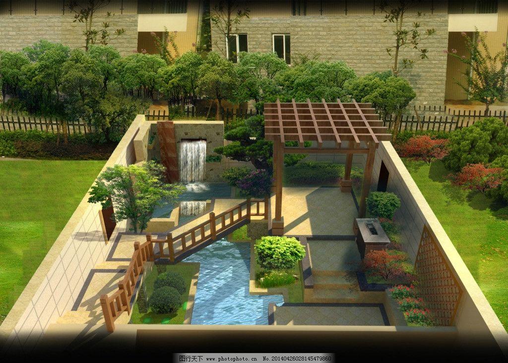 私家庭院景观设计图片,效果图 私人 源文件-图行天下