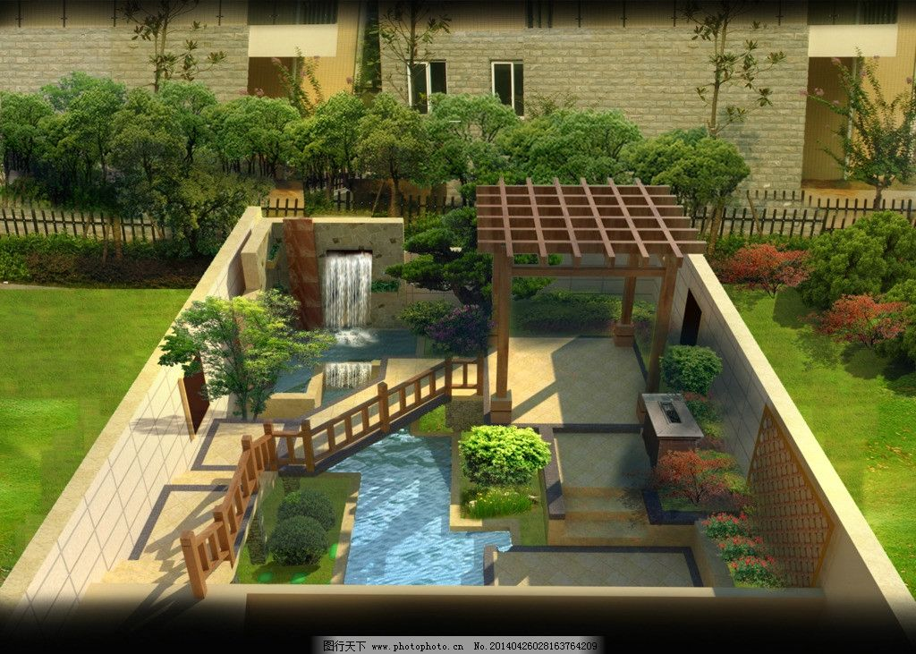私家庭院景观设计图片