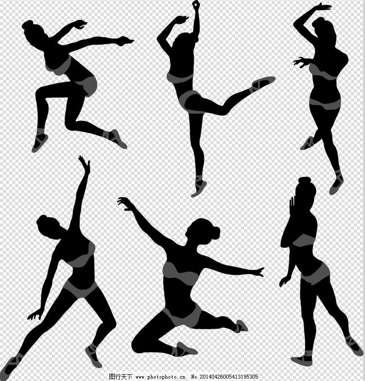 跳舞女孩免费下载 芭蕾 剪影 女孩 跳舞 跳舞 女孩 剪影 芭蕾 矢量图