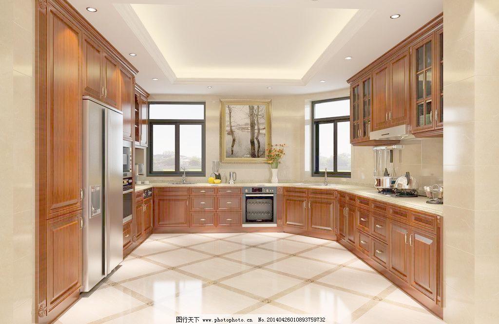 开放橱柜 厨房 欧式 实木 室内设计 开放橱柜设计素材 开放橱柜模板下