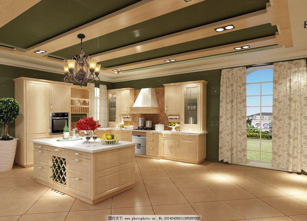 白色欧式厨房设计免费下载