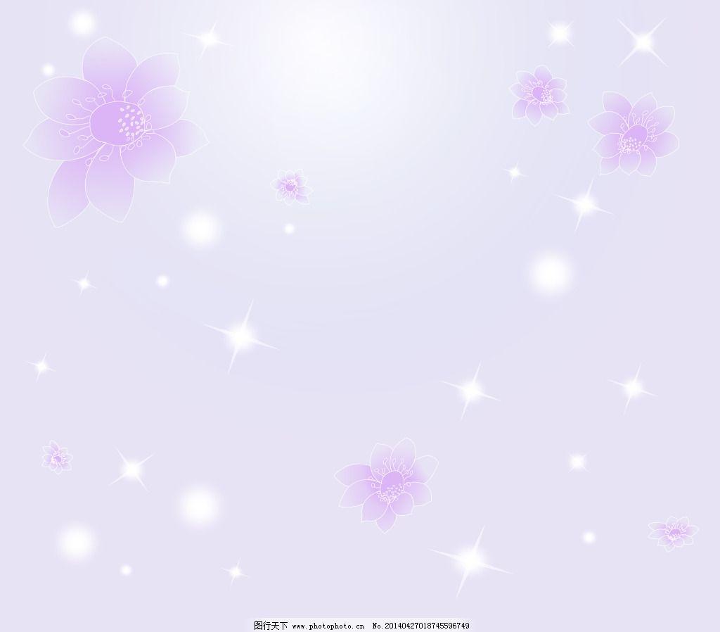 淡紫梦幻卡通背景_可爱卡通_动漫卡通_图行天下图库