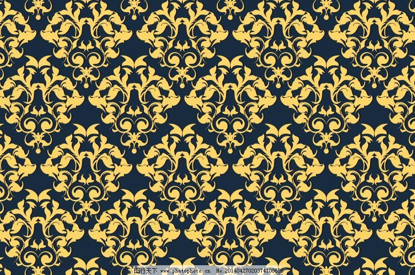 欧式底纹 欧式 底图 花纹背景 古雅 壁纸 欧式壁纸 黄色背景 欧式底图图片