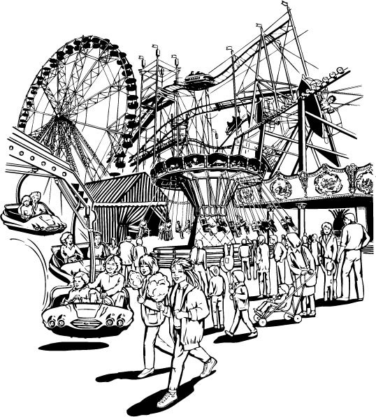 乐园手绘效果图