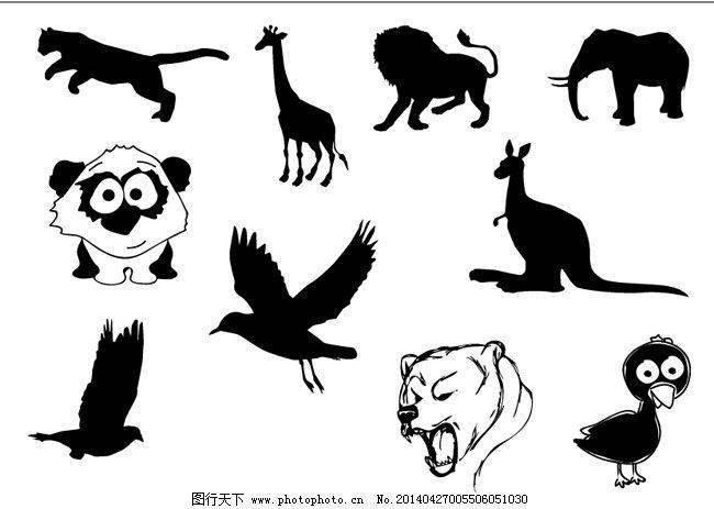 动物头像剪影免费下载 动物 黑白 剪影 狮子      动物      剪影