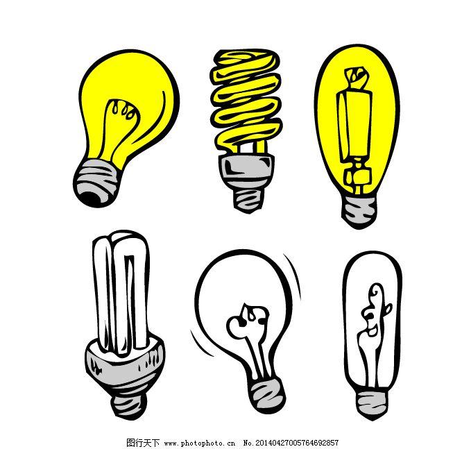 灯泡灯管免费下载 灯管 灯泡 卡通 灯泡 灯管 常见 卡通 矢量图 日常