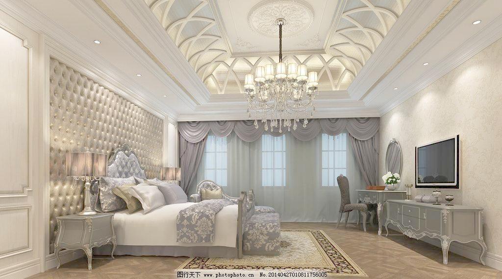 别墅 主卧室图片