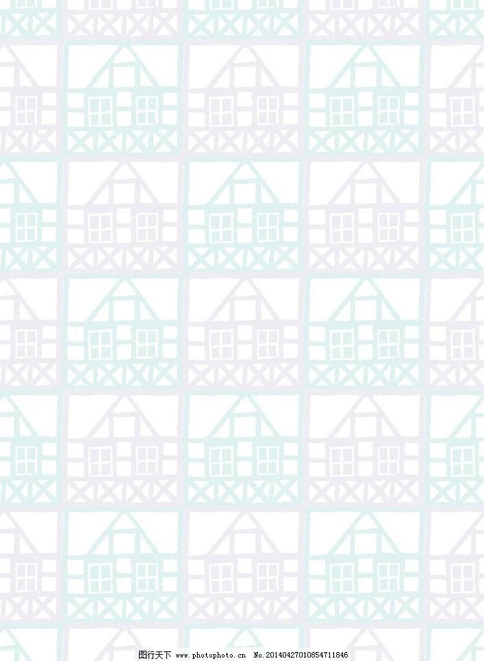 花布 花纹 花纹矢量素材 花纹模板下载 花纹 房屋 图案 布纹 欧式花纹