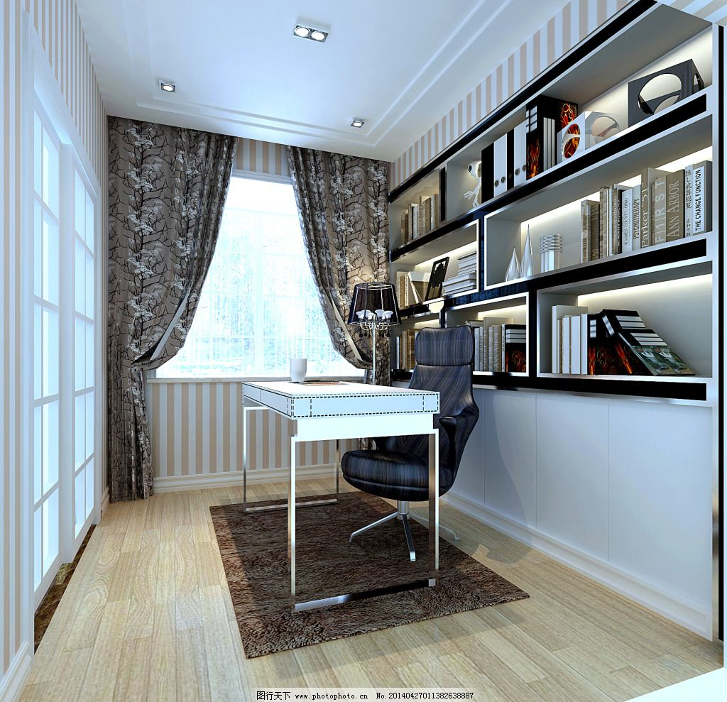 书房免费下载 室内装修 装修设计 室内装修 装修设计 书房设计 家居图片