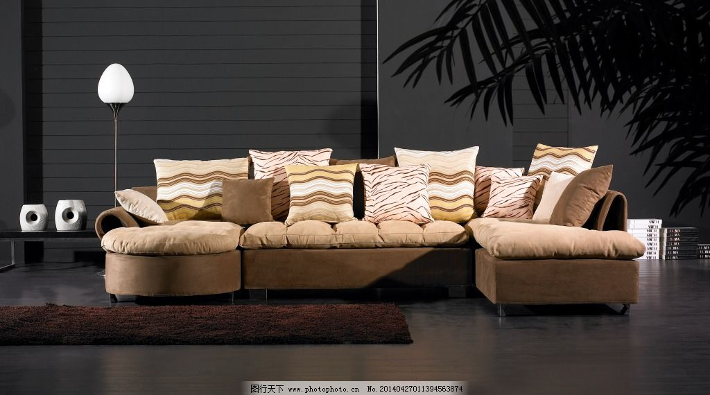 灯 地毯 布艺沙发 布艺沙发背景 地毯 灯 茶几 装饰素材 室内设计