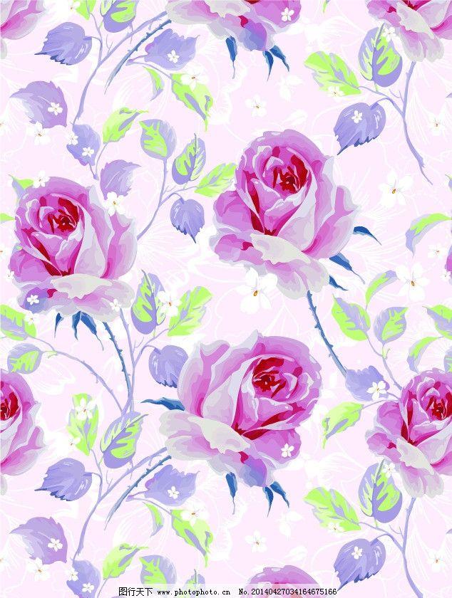 玫瑰花 花朵 藤蔓 布花 花布 床单花纹 窗帘布艺 面料 流行面料 四方