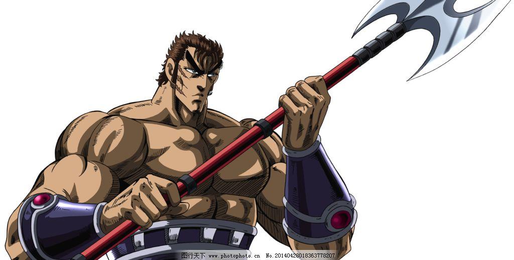热血格斗士 武器 斧子 肌肉 男人 漫画 卡通 热血 动漫人物 动漫动画图片