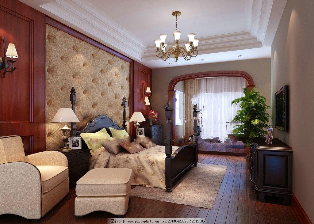 欧式高床头图片