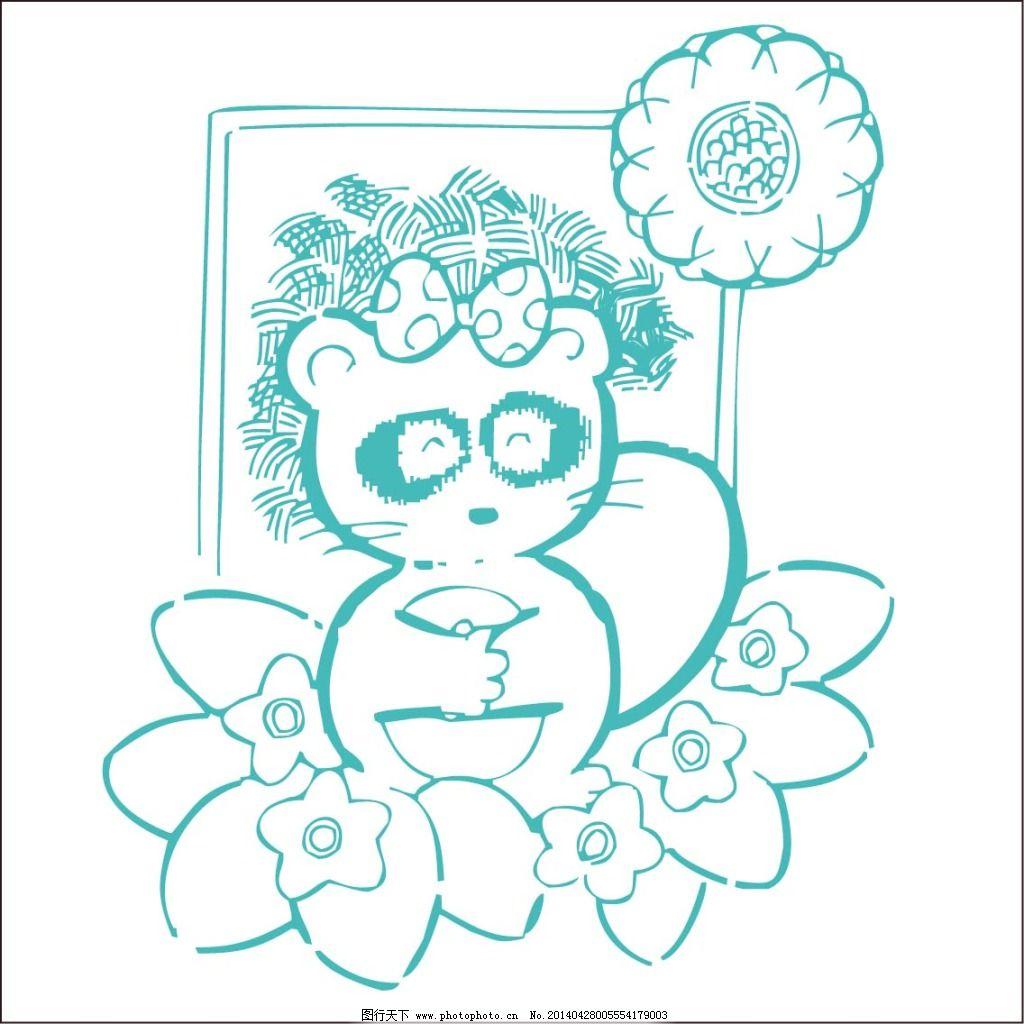 小熊猫免费下载 动物 儿童画 简笔画 简笔画 动物 小熊猫 儿童画 矢量-