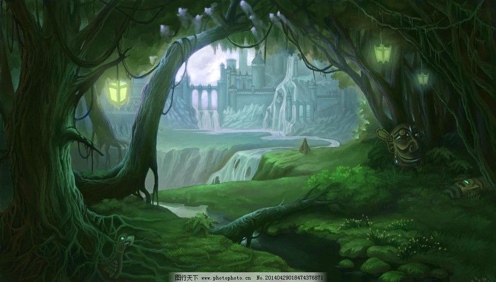 游戏场景原画 原画 绘画 动漫 风景 森林 风景漫画 动漫动画 设计 200