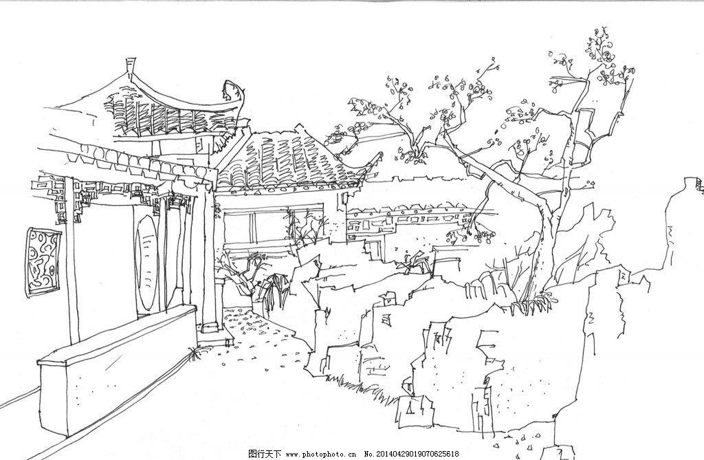 美丽的园林简笔画-紫荆花图片 绘画书法 文化艺术