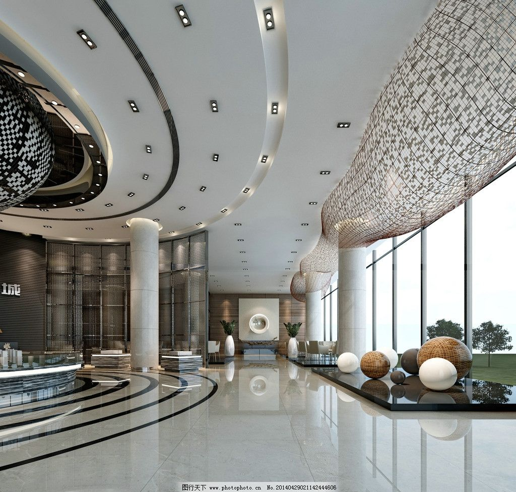 售楼大厅 渲染 渲染图 室内装潢 室内设计 服务大厅 房地产