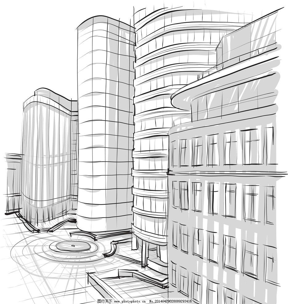素描建筑 手绘建筑 素描 建筑草图 建筑 建筑剪影 建筑素描 建筑速写