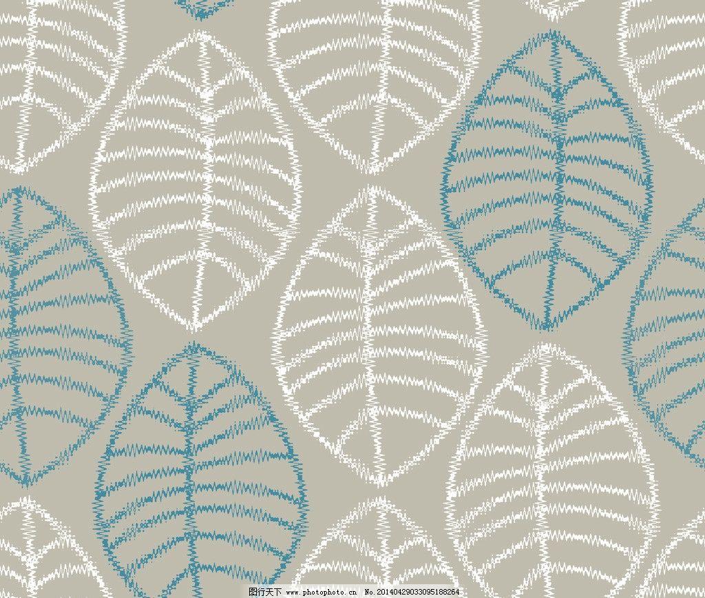 时尚花纹 底纹 四方连续 图案 叶子 印花时尚印花 提花 纹样 psd分层