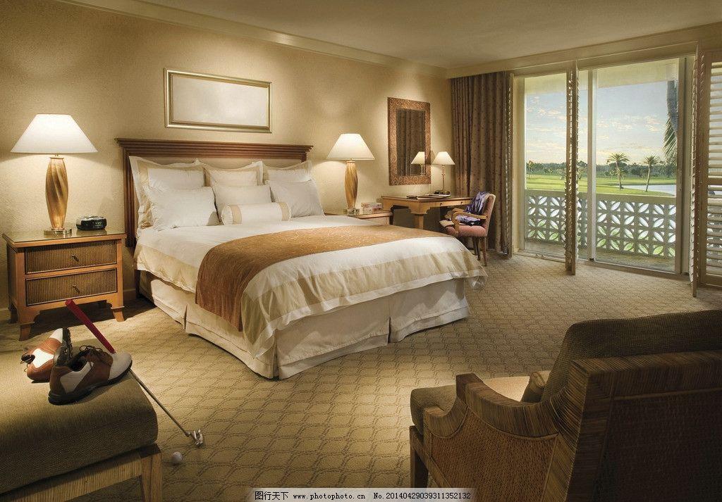 美式室内装修风格 室内家居 复古 美式装修 室内静物写真 卧室 床 高尔夫球 室内摄影 建筑园林 摄影 300DPI JPG