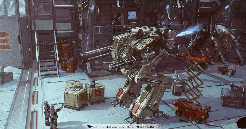 机器人 工厂 动漫 人物 漫画 手绘 精彩 逼真 其他 动漫动画 设计 72