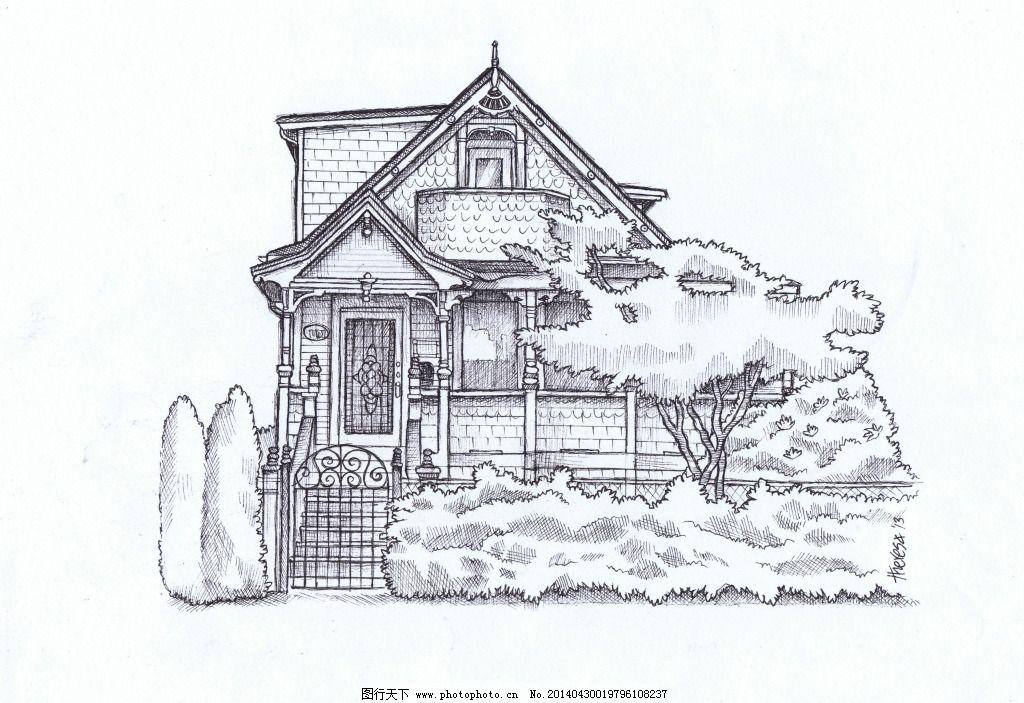 手绘俯视45度的房子