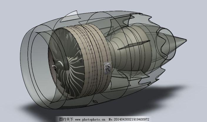涡扇发动机免费下载 航空 机械设计 航空航天 航空 机械设计 3d模型