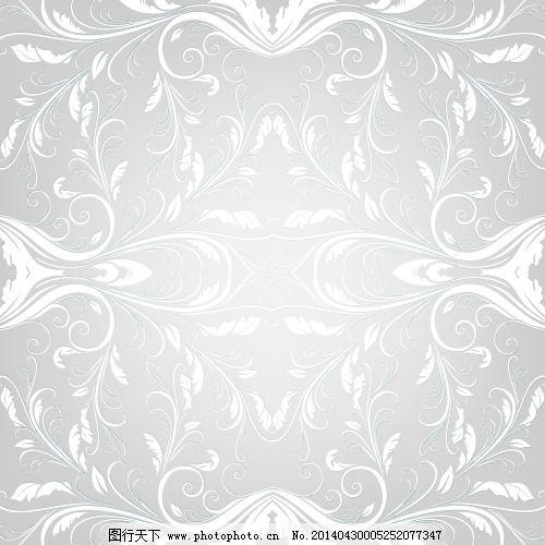 底纹 花纹 银色 中国风 底纹 银色 中国风 花纹 矢量图 花纹花边
