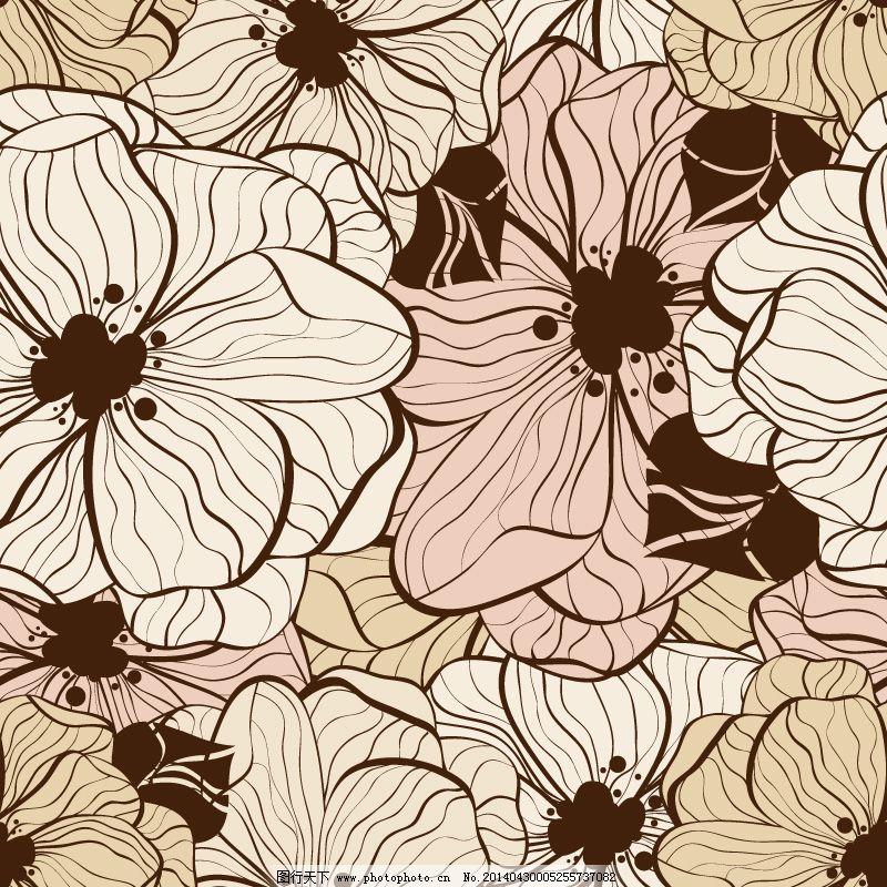 插画 花朵 花卉 手绘 线条 植物 花卉 花朵 植物 插画 手绘 线条 矢量