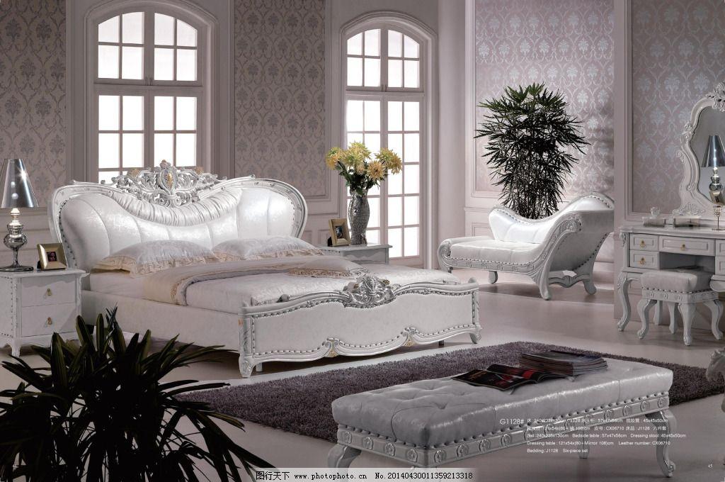 欧式软床免费下载 床头柜