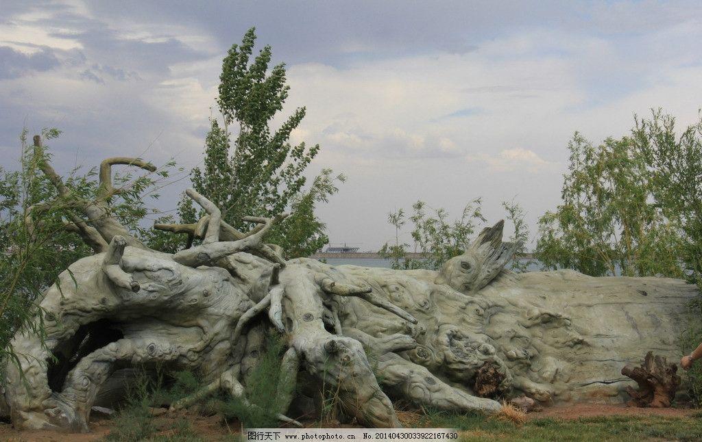 木雕 新疆克拉玛依 西郊水库 风景奇观 风景素材 山水风景 自然景观