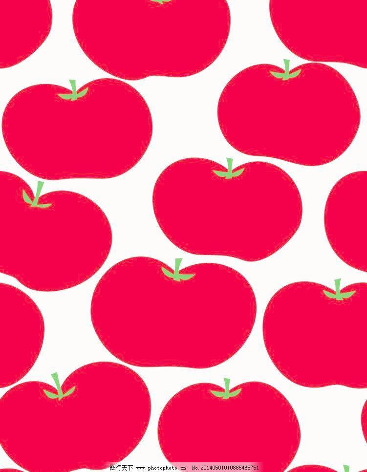 苹果 水果 红苹果 布纹 花纹 图案 印花 时尚花纹 印花图案 移门 墙纸