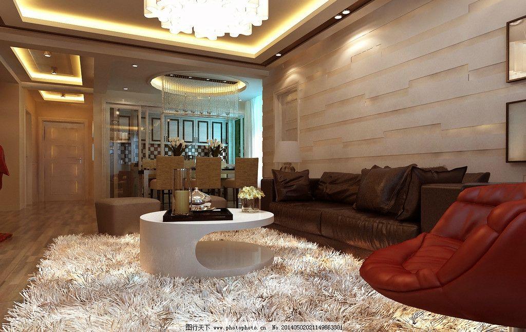 客厅装修效果图      欧式 3d 立体 现代 室内设计 3d设计 设计 72dpi