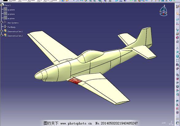 p51免费下载 航空航天 3d模型素材 建筑模型