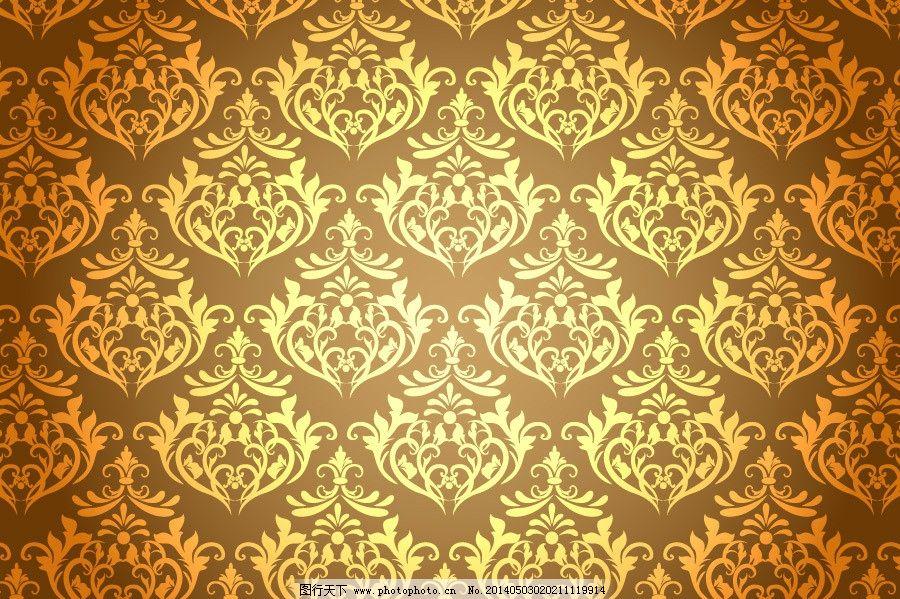 欧式 花纹背景 古雅 壁纸 欧式壁纸 黄色背景 欧式底图 花纹底纹 欧式图片