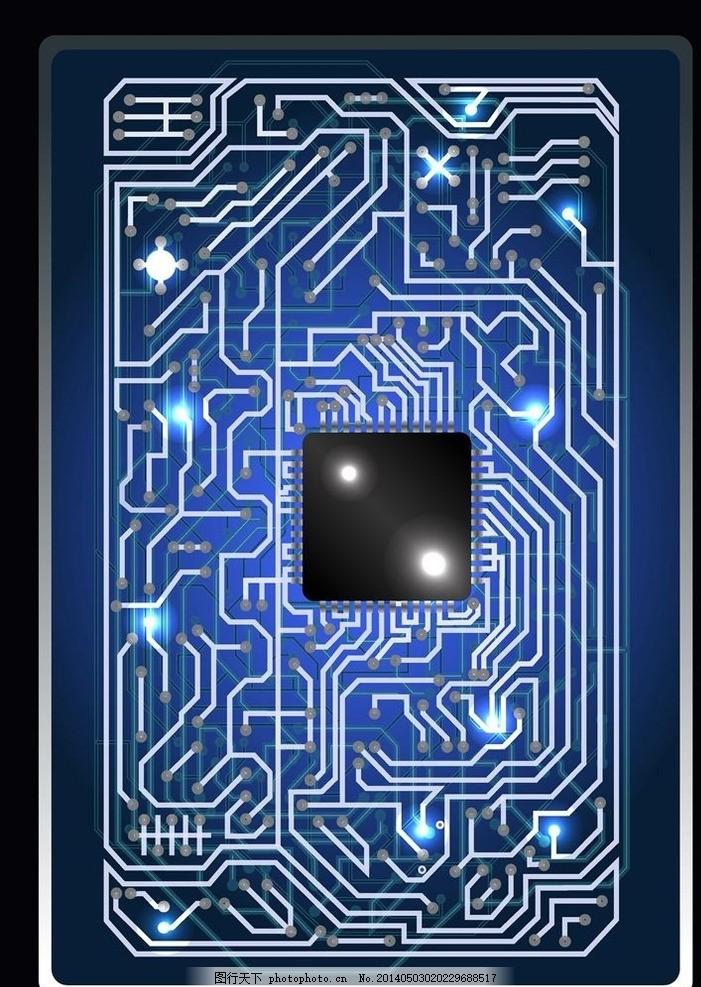 抽象背景 抽象设计 卡通背景 矢量设计 卡通设计 艺术设计 电路板